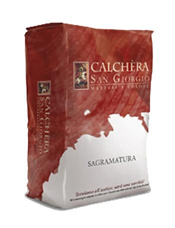 Sagramatura: Traditionele Italiaanse afwerktechniek waarbij een fijne kaleimortel,  - Promacom