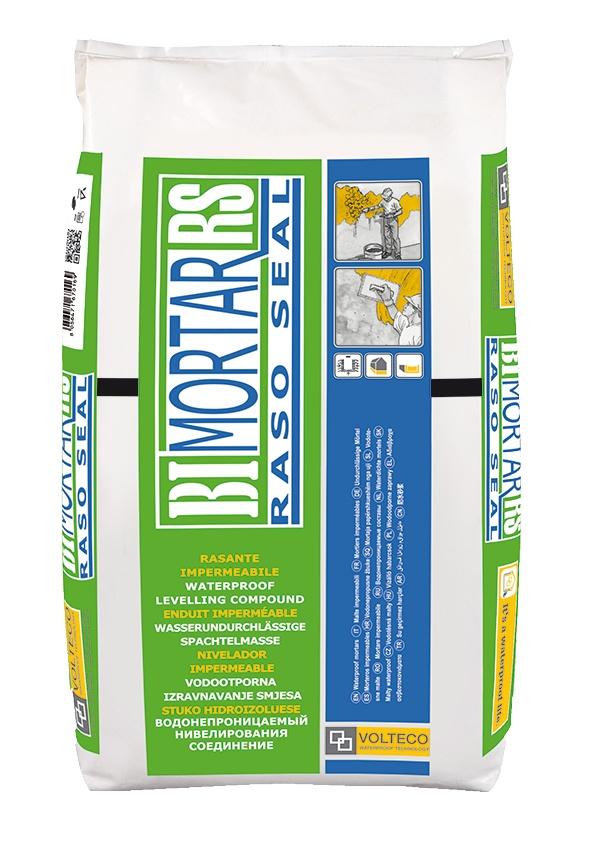 Bimortar Rasoseal: Waterdichte uitvlakmortel, vezelversterkt en cementgebaseerd voor toep - Promacom
