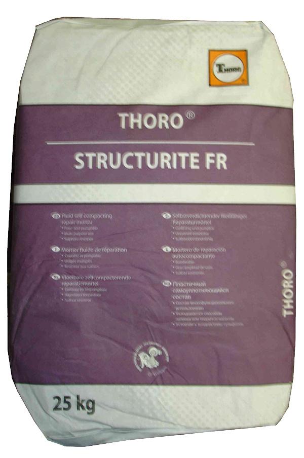 Structurite FR: Vloeibare, gietbare, zelfcompacterende reparatiemortel voor betonherst - Promacom