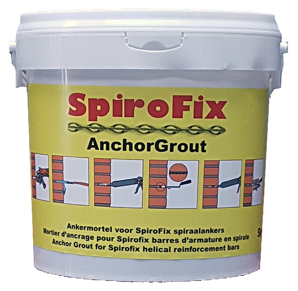 SpiroFix AnchorGrout: Gebruik in maritieme omgeving RVS 316. Leverbaar op bestelling - Promacom