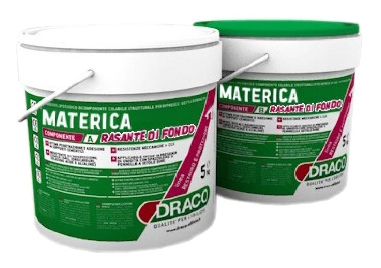 Materica Rasante di Fondo: Tweecomponenten epoxycement onderlaag voor het Materica systeem met ui - Promacom