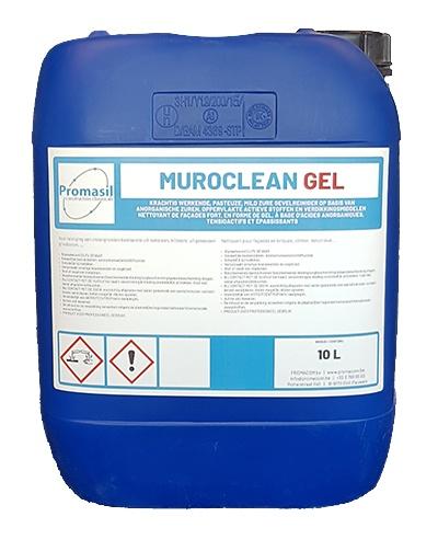 Muroclean GEL: Krachtige pasteuze, mild zure gevelreiniger op basis van anorganische  - Promacom