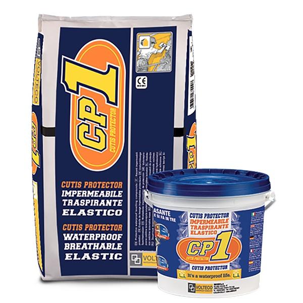CP 1: Witte cementgebaseerde, elastische en ademende, waterdichte, minerale  - Promacom