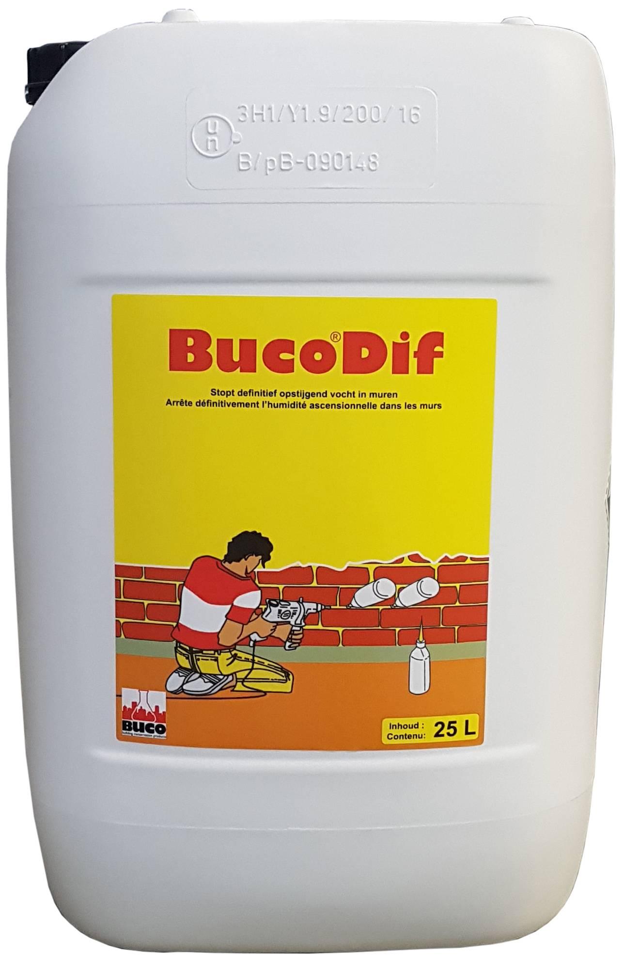 BucoDif: Dunvloeibaar product voor het definitief stoppen van opstijgend vocht  - Promacom