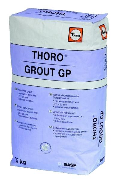Thorogrout GP: Krimparme gietmortel voor preciesie-aangieten, ondersabelen en veranke - Promacom