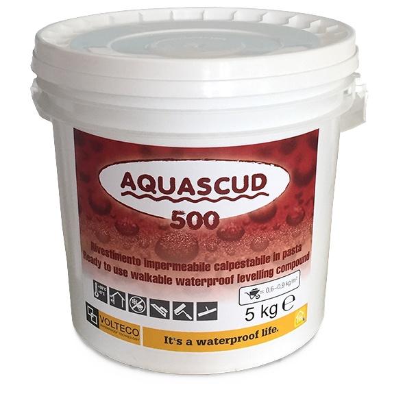 Aquascud 500: Beloopbare waterdichte elastische silaangemodificeerde polymeercoating - Promacom